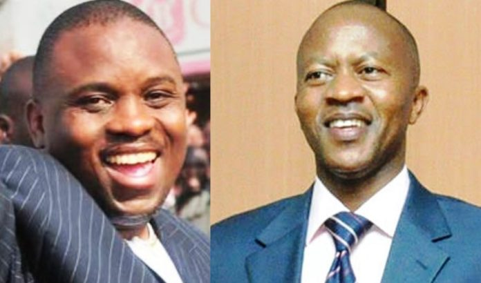Kampala Lord Mayor Erias Lukwago and social commentator Frank Gashumba. The latter has praised the former for quitting DP to join FDC