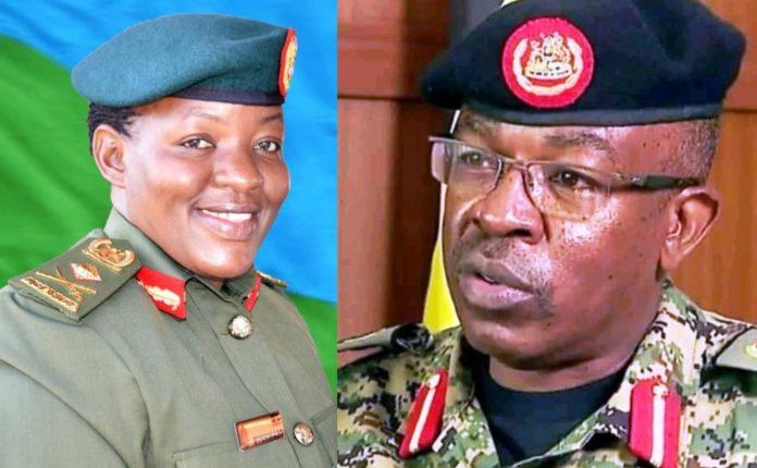 Brig Gen Flavia Byekwaso and Richard Karemire