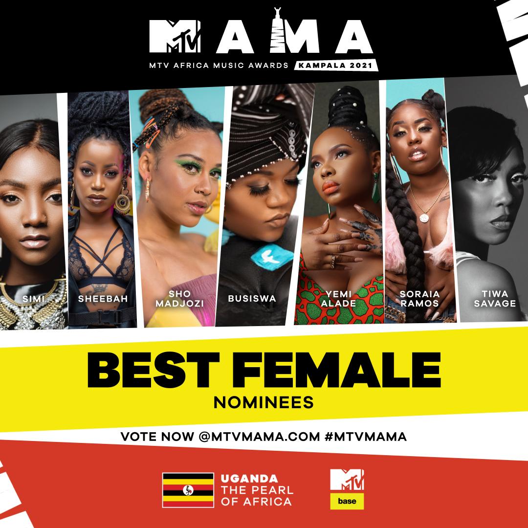 Full List: MTV Africa Music Awards (MAMAs) 2021 nominees ...